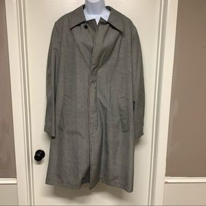 Vintage 60's The Turino Houndstooth All Weather Zip Out Trench Raincoat